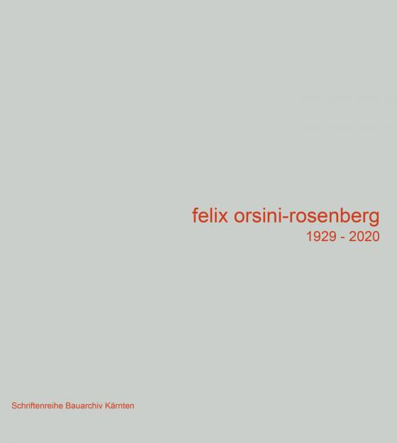Cover-Bild Felix Orsini-Rosenberg