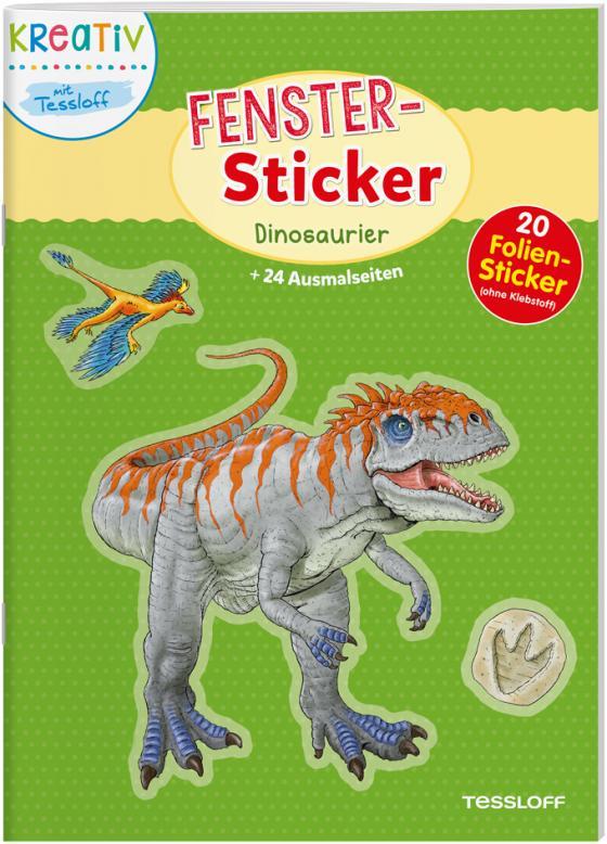 Cover-Bild Fenster-Sticker. Dinosaurier