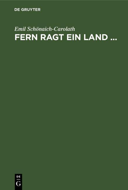 Cover-Bild Fern ragt ein Land ...