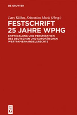 Cover-Bild Festschrift 25 Jahre WpHG
