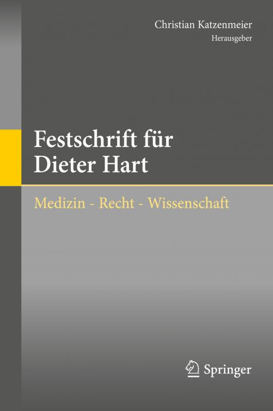 Cover-Bild Festschrift für Dieter Hart