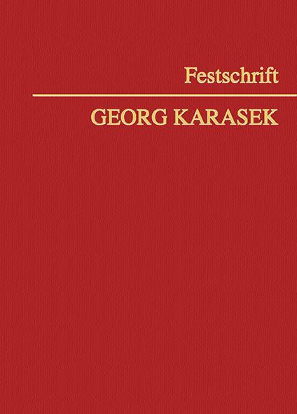 Cover-Bild Festschrift Georg Karasek