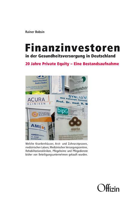 Cover-Bild Finanzinvestoren in der Gesundheitsversorgung in Deutschland