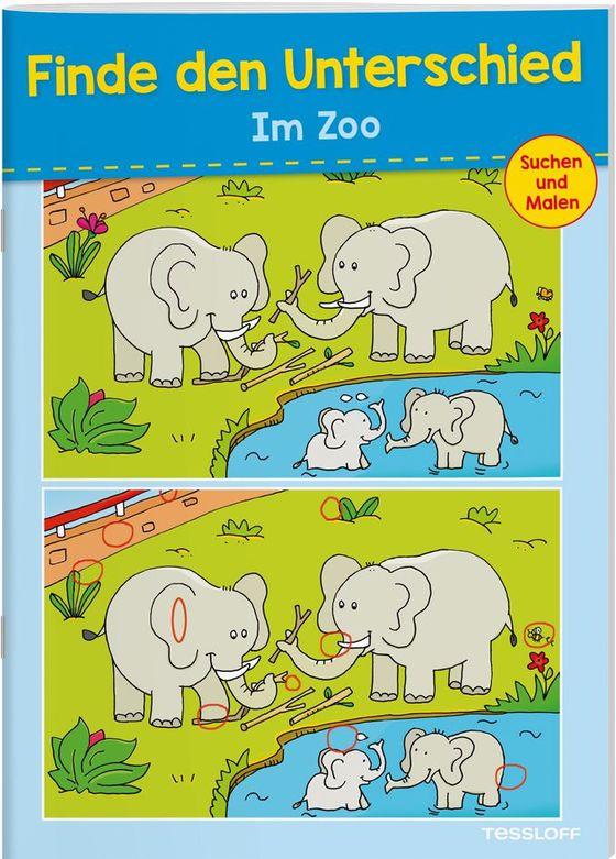 Cover-Bild Finde den Unterschied. Zoo