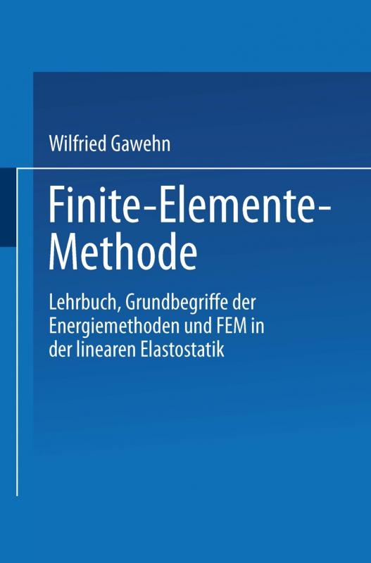 Cover-Bild Finite-Elemente-Methode