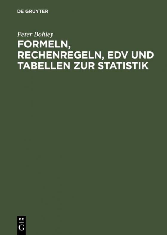Cover-Bild Formeln, Rechenregeln, EDV und Tabellen zur Statistik