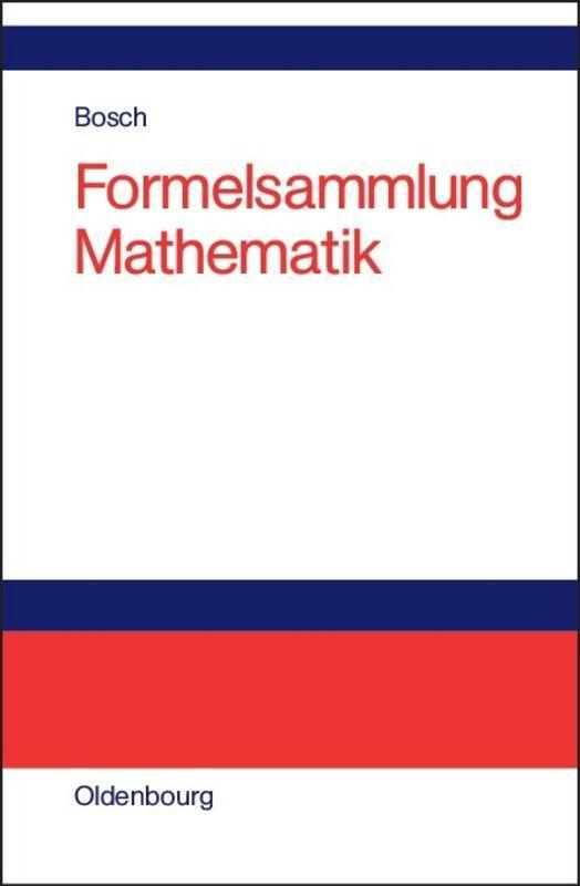 Cover-Bild Formelsammlung Mathematik