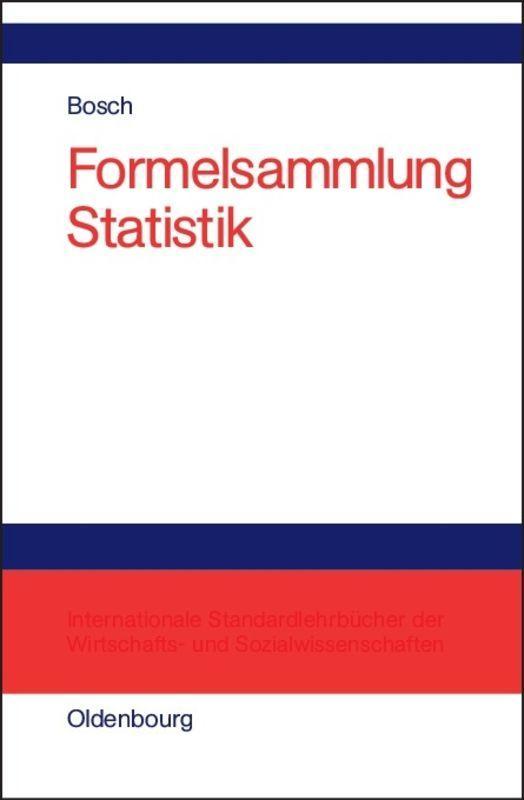 Cover-Bild Formelsammlung Statistik