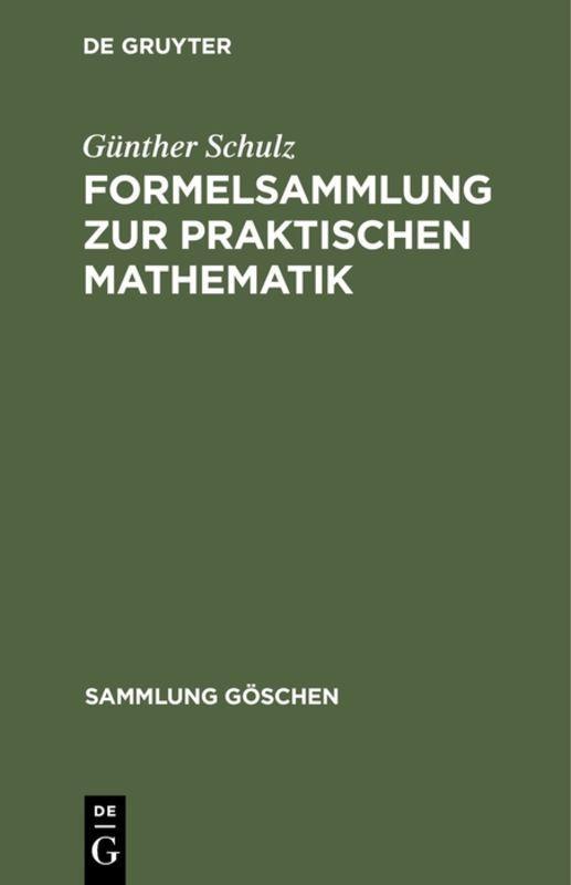 Cover-Bild Formelsammlung zur praktischen Mathematik