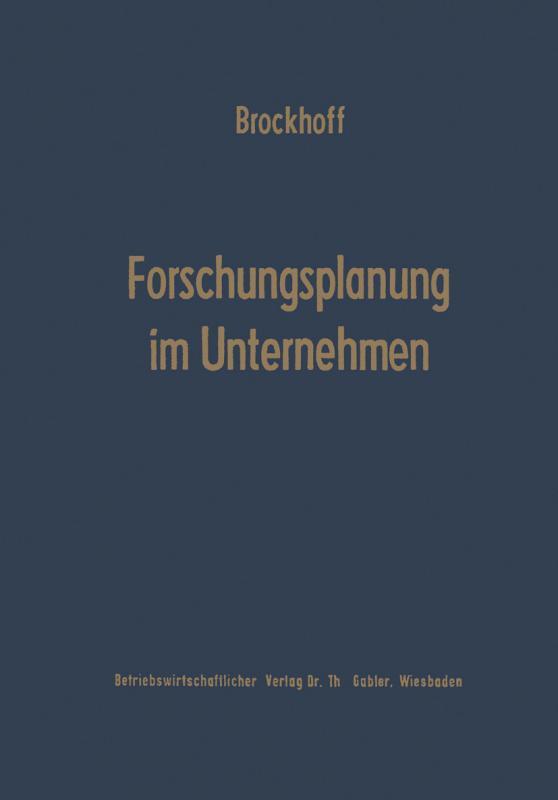 Cover-Bild Forschungsplanung im Unternehmen
