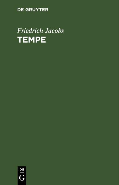 Cover-Bild Friedrich Jacobs: Tempe