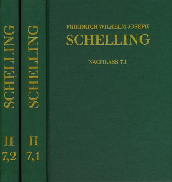 Cover-Bild Friedrich Wilhelm Joseph Schelling: Historisch-kritische Ausgabe / Reihe II: Nachlaß. Band 7,1-2: ›System der gesammten Philosophie‹ und weitere Schriften (1804–1807)