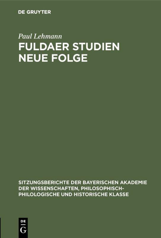 Cover-Bild Fuldaer Studien Neue Folge