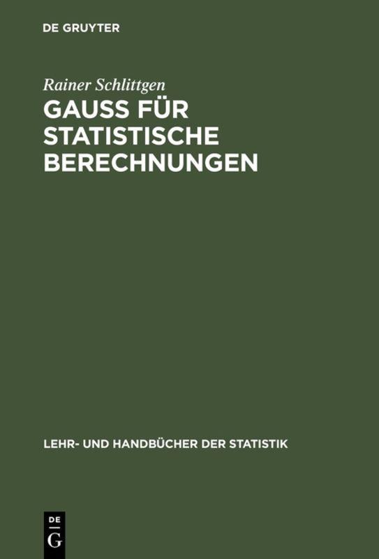 Cover-Bild GAUSS für statistische Berechnungen