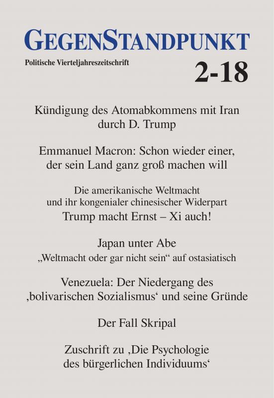 Cover-Bild GegenStandpunkt 2-18