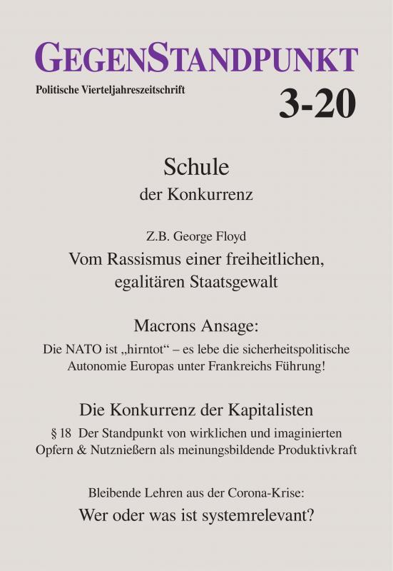 Cover-Bild GegenStandpunkt 3-20