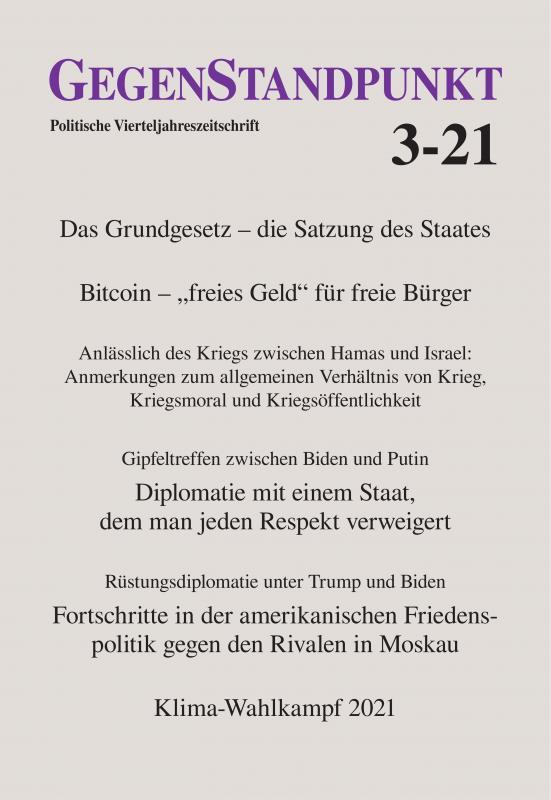 Cover-Bild GegenStandpunkt 3-21