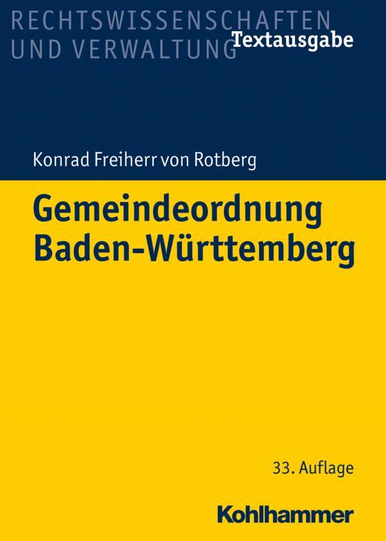 Cover-Bild Gemeindeordnung Baden-Württemberg