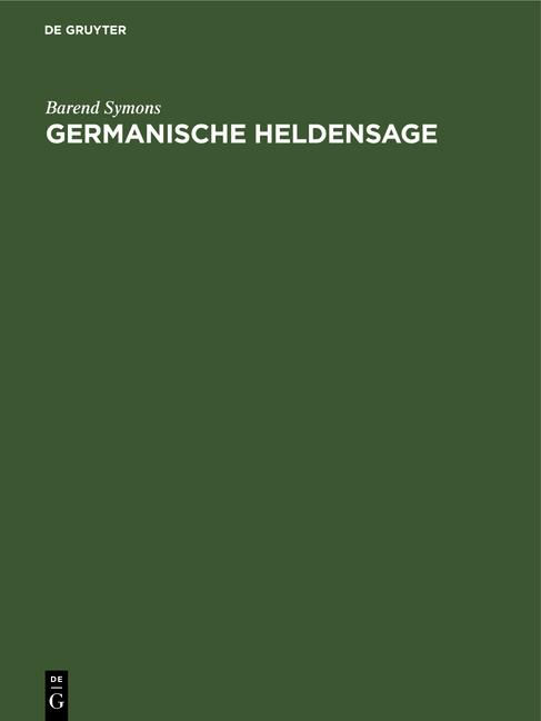 Cover-Bild Germanische Heldensage