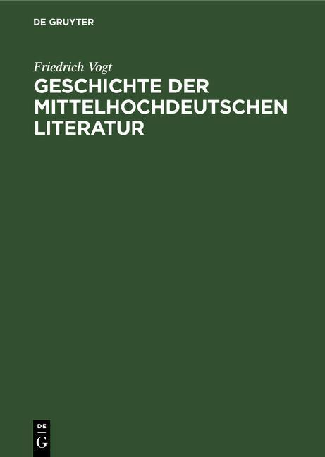 Cover-Bild Geschichte der mittelhochdeutschen Literatur