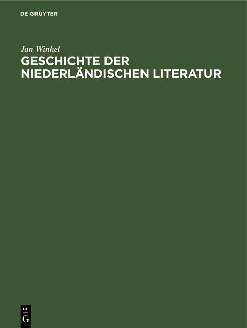 Cover-Bild Geschichte der niederländischen Literatur