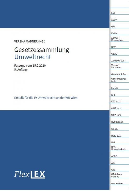 Cover-Bild Gesetzessammlung Umweltrecht