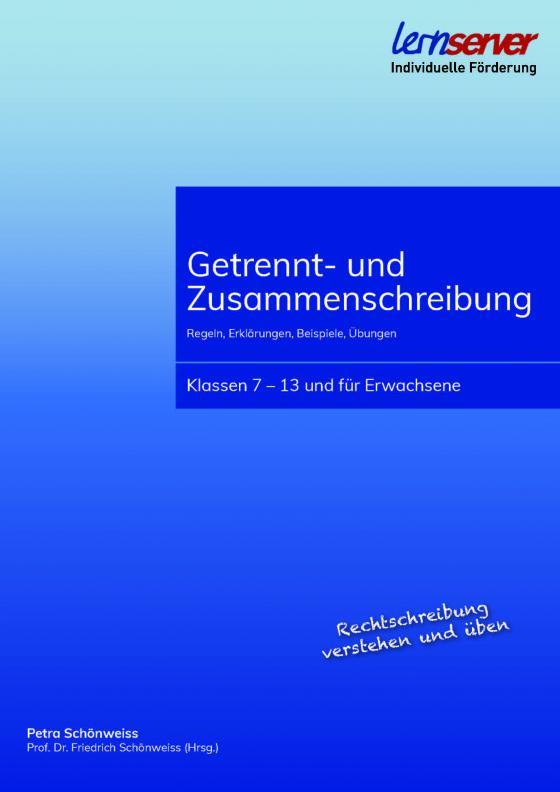Cover-Bild Getrennt- und Zusammenschreibung