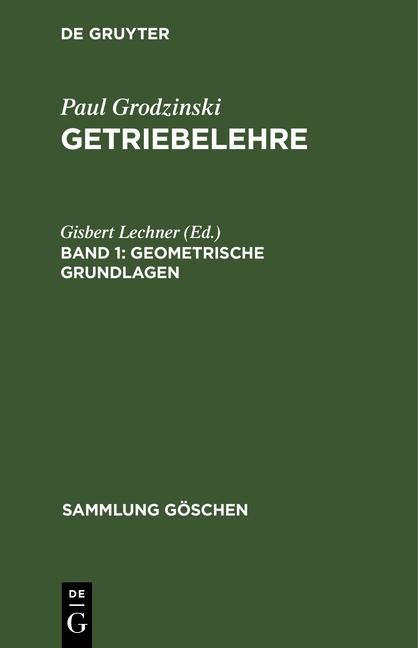 Cover-Bild Getriebelehre / Geometrische Grundlagen
