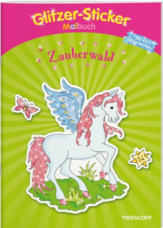 Cover-Bild Glitzer-Sticker-Malbuch. Zauberwald