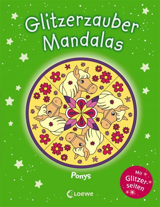 Cover-Bild Glitzerzauber-Mandalas - Ponys