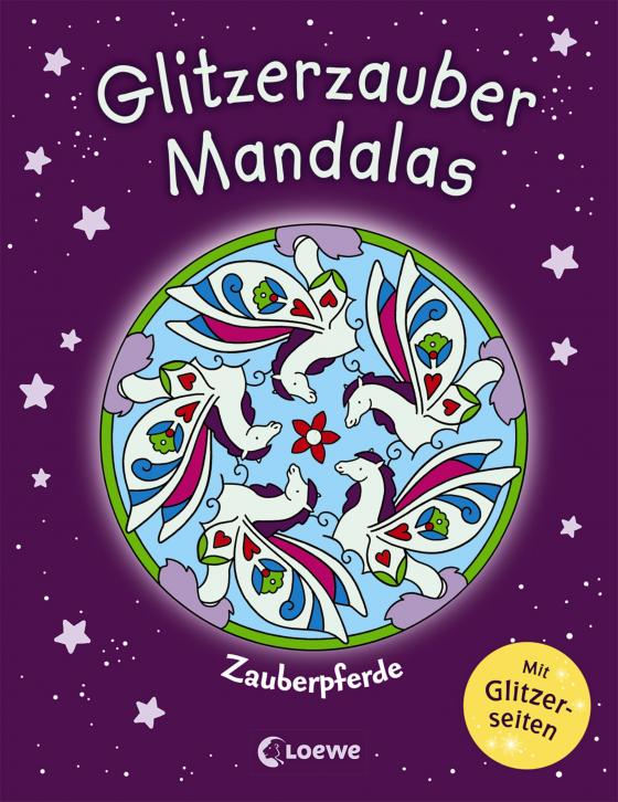 Cover-Bild Glitzerzauber-Mandalas - Zauberpferde