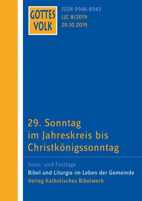 Cover-Bild Gottes Volk LJ C8/2019