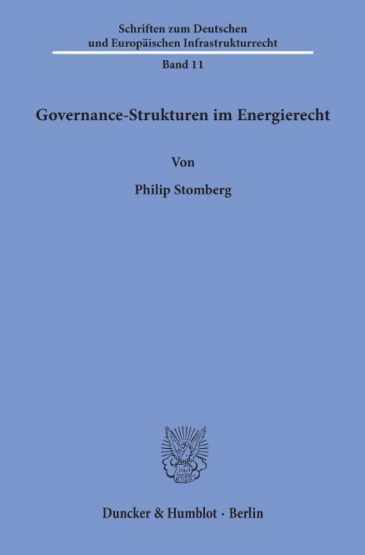 Cover-Bild Governance-Strukturen im Energierecht.