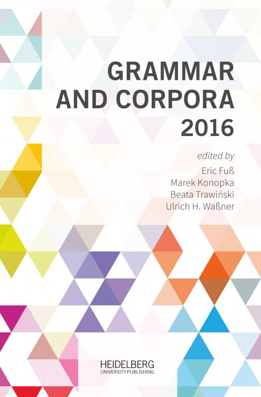 Cover-Bild Grammar and Corpora 2016