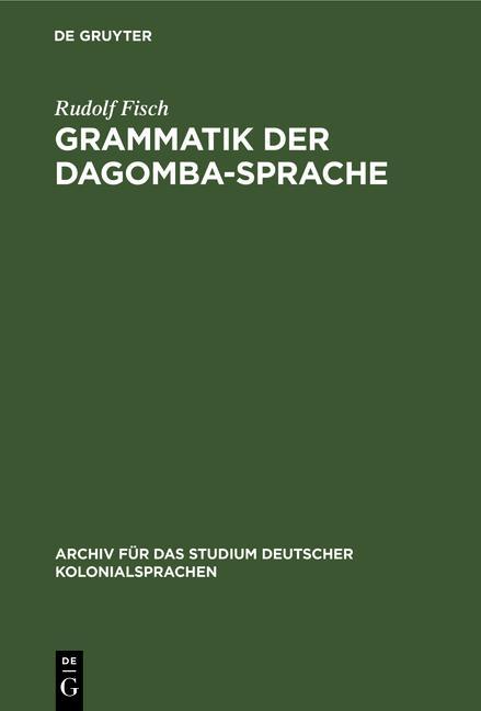 Cover-Bild Grammatik der Dagomba-Sprache
