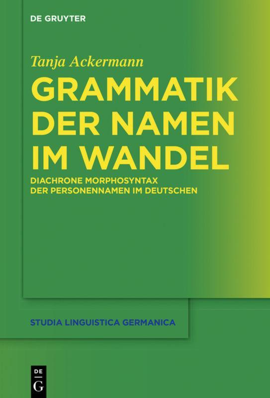 Cover-Bild Grammatik der Namen im Wandel