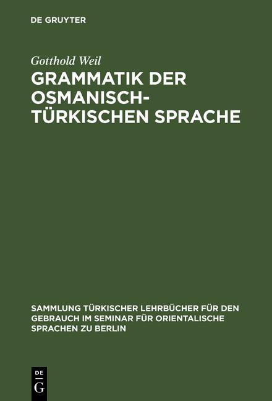Cover-Bild Grammatik der osmanisch-türkischen Sprache