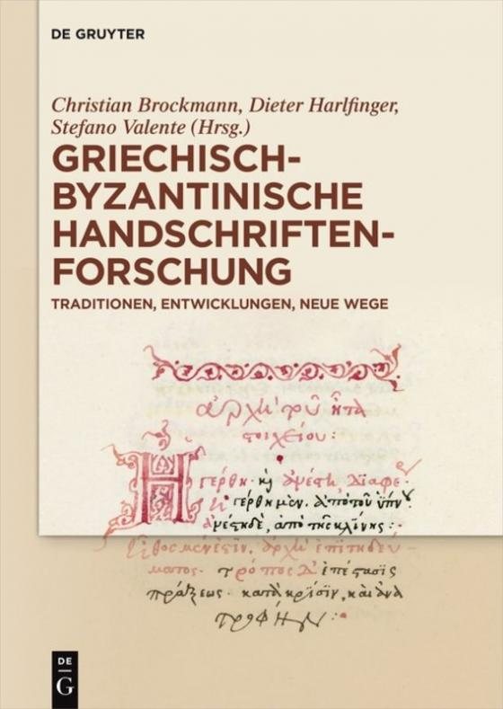Cover-Bild Griechisch-byzantinische Handschriftenforschung