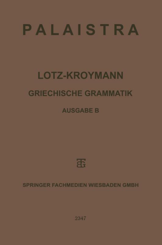 Cover-Bild Griechische Grammatik