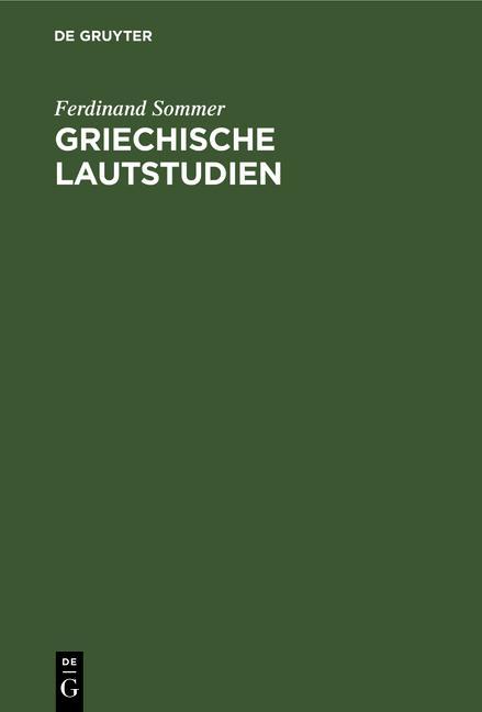 Cover-Bild Griechische Lautstudien