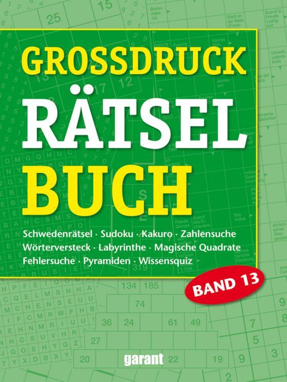 Cover-Bild Grossdruck Rätselbuch Band 13