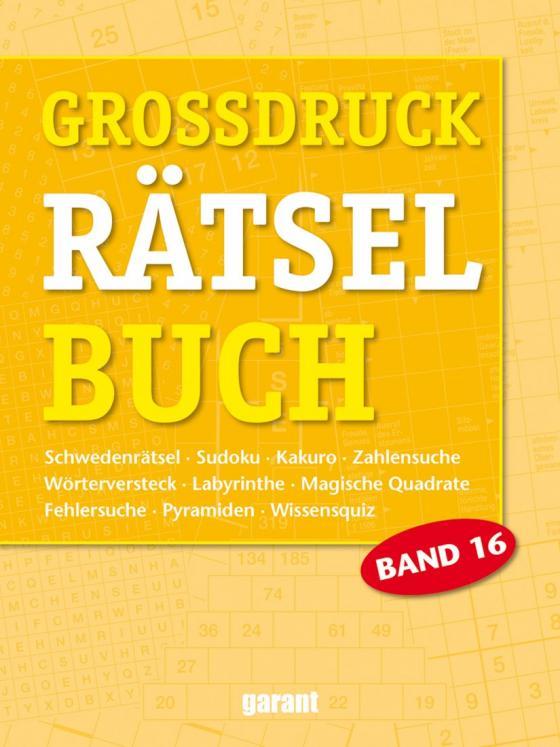 Cover-Bild Grossdruck Rätselbuch Band 16