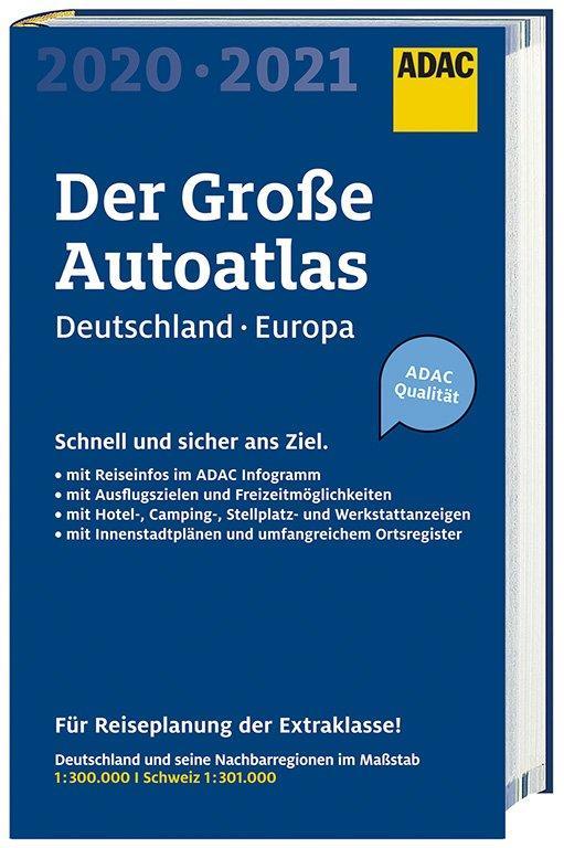 Cover-Bild Großer ADAC Autoatlas 2020/2021, Deutschland 1:300 000, Europa 1:750 000
