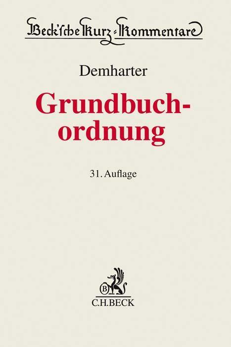 Cover-Bild Grundbuchordnung