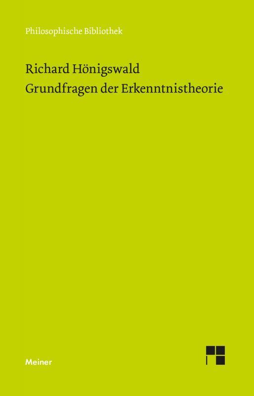 Cover-Bild Grundfragen der Erkenntnistheorie