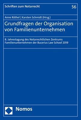 Cover-Bild Grundfragen der Organisation von Familienunternehmen