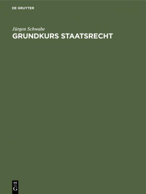 Cover-Bild Grundkurs Staatsrecht