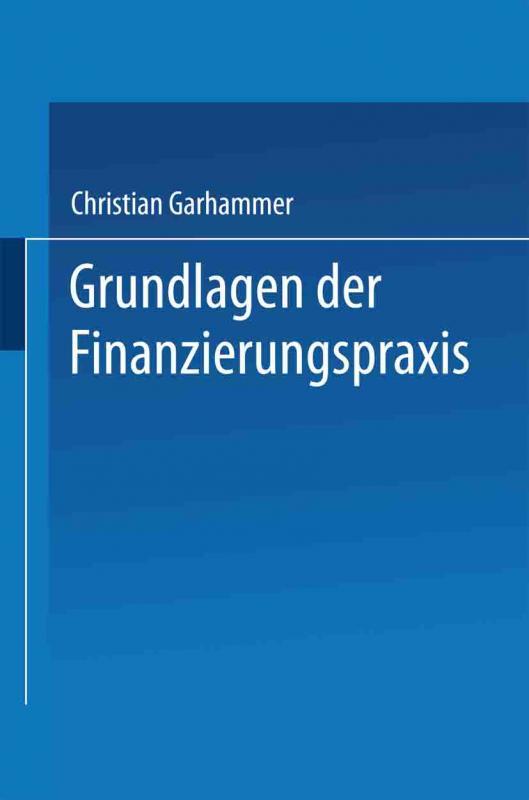 Cover-Bild Grundlagen der Finanzierungspraxis