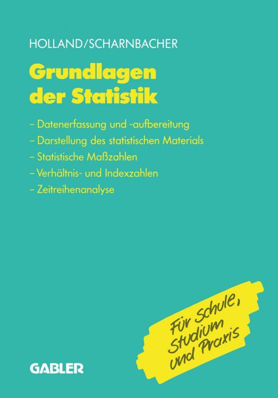 Cover-Bild Grundlagen der Statistik