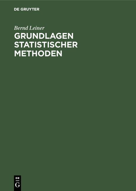 Cover-Bild Grundlagen statistischer Methoden